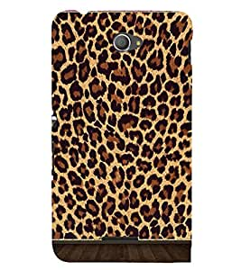 Cheetah Skin Pattern 3D Hard Polycarbonate Designer Back Case Cover for Sony Xperia E4 Dual :: Sony Xperia E4