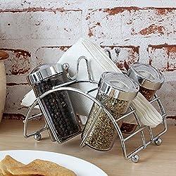 Pebbleyard Plastic Spice Racks, Standard, 5-Piece, Multi