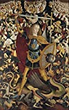 'Anonymous The Archangel Saint Michael Ca. 1495 ' Oil Painting, 24 X 38 Inch / 61 X 97 Cm ,printed On Perfect Effect Canvas ,this High Quality Art Decorative Canvas Prints Is Perfectly Suitalbe For Game Room Artwork And Home Artwork And Gifts