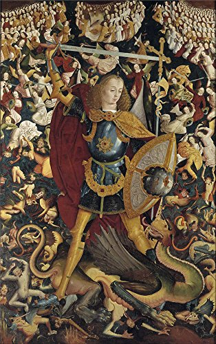 the-perfect-effect-canvas-of-oil-painting-anonymous-the-archangel-saint-michael-ca-1495-size-30-x-48