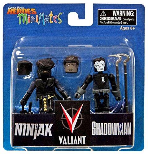 """Valiant Comic Book Heroes Minimates Ninjak & Shadowman 2"""" Minifigure 2-Pack"""
