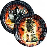New Dr Who Plates 8 pk