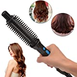 4 In 1Ceramic Anion Hair Curler Comb Hairbrush LCD Curling/Straighting Straightener Brush Roller Iron Fashion Styling Tools