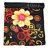Frabjous Floral Polycotton Single Size Dohar (Black)