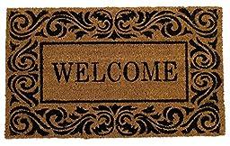 MILLIARD Eco-Friendly Decorative Coco Coir Outdoor Entrance \'Welcome\' Doormat - 18in.x30in.