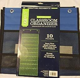 Casemate Classroom Organizer, 10 Pockets Letter Size (Blue)