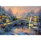 Schmidt Spiele - 1,000 Pieces Jigsaw Puzzle - Thomas Kinkade : Snow Village
