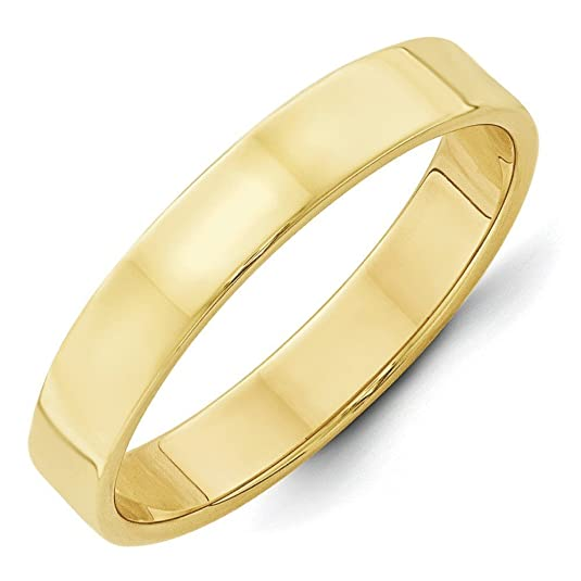 10k Yellow Gold 4mm Ltw Flat Band Size Q 1/2 Ring - Higher Gold Grade Than 9ct Gold
