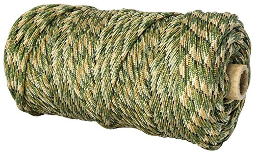 TOUGH-GRID 750lb Forest Camo Paracord / Parachute Cord - Genuine Mil Spec Type IV 750lb Paracord Used by the US