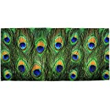 Peacock Feathers All Over Bath Towel