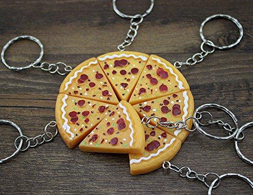 10Pcs Pizza Pendant Key Chain Keyring Key Holder Key Buckle Purse Bag Charm Key Jewelry Chic Accessories Ornaments