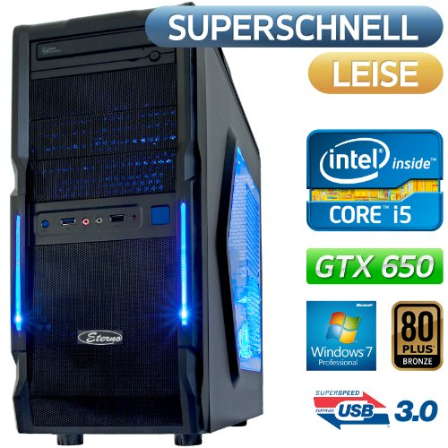 Dark Count| USB 3.0, Win7 Prof, STROM SPAR Office / Multimedia / Gaming PC COMPUTER | BeQuiet 400W 80PLUS Bronze , Intel Core i5 3470 (4x3.2GHz),1500GB SATA3 Festplatte, 8GB DDR3 PC1600, Foxconn H77MXV-D Mainboard, Nvidia Grafik GTX650 mit HDMI/DVI DX11, DVD-Brenner, 5.1 Sound, GigabitLAN