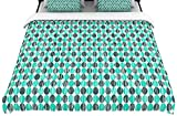 "Kess InHouse 88 by 104-Inch Michelle Drew ""Distressed Circles"" Woven Duvet Cover, King, Teal Aqua"