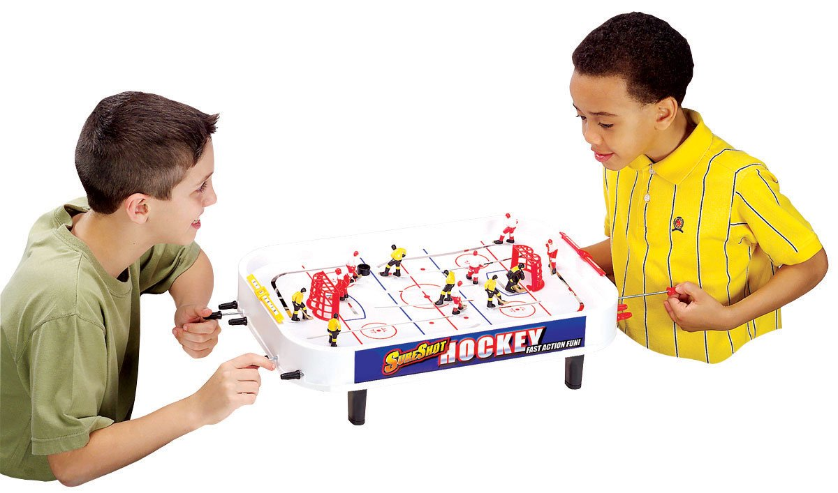 Mini 2-in-1 tabletop ice hockey  soccer tablet game 2014free shipping 2014dx
