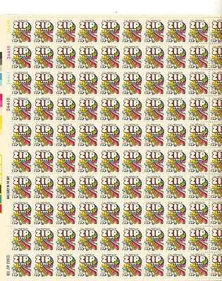 Mail Transport Zip Code Sheet of 100 x 10 Cent US Postage Stamps NEW Scot 1511