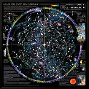 Amazon.com: Map of Universe - ©Spaceshots Lamina Framed Art Poster