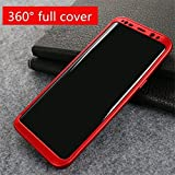 #10: 360 Degree Full Body Protection Front & Back Case Cover (iPaky Style) with Tempered Glass for VIVO V7+ / V7 PLUS (RED)