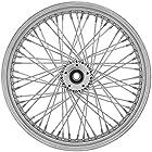 Ride Wright Wheels Inc Premium 60 Spoke 16x3.5 Rear Wheel, Color: Chrome, Rim Size: 16, Position: Rear 04636-65-99P-T