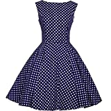 Heroecol 50s Hepburn Style Vintage Dots Swing Dress