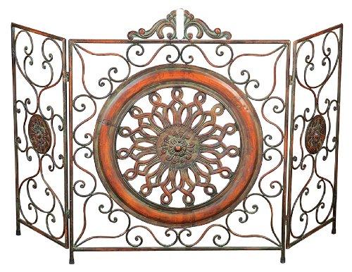 Best Price Loft 3 Panel Metal Fireplace Screen
