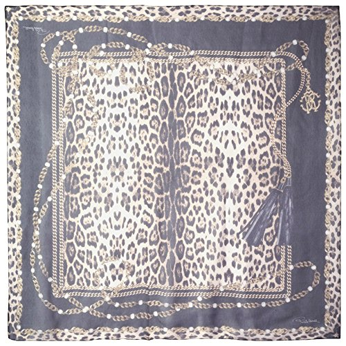 Roberto-Cavalli-Womens-Patterned-Scarf-BlackLeopard-Print