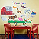 Oopsy daisy Eric Carle, ?s Farm Peel and Place Childrens Wall Decals by Eric Carle, 54 by 60-Inch