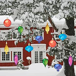 Christmas yard decorations vintage hanging for Flat outdoor christmas decorations