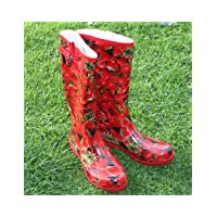 Ladies STRAWBERRY Funky Fashion Wellies