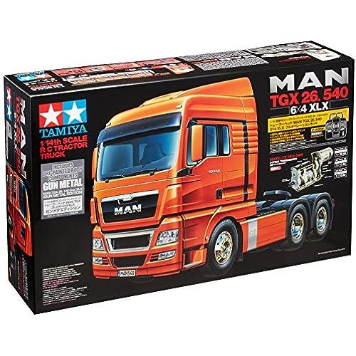 타미야 1/14 전동 RC 빅 트럭 시리즈 No.45 MAN TGX 26. 540 6 × 4 XLX 풀 오퍼레이션 세트