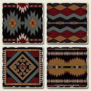 Native american southwestern western coasters for Native kitchen designs and decors photos