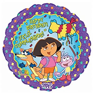 "Dora the Explorer 18"" Happy Birthday Mylar Party Balloons (10 count)"