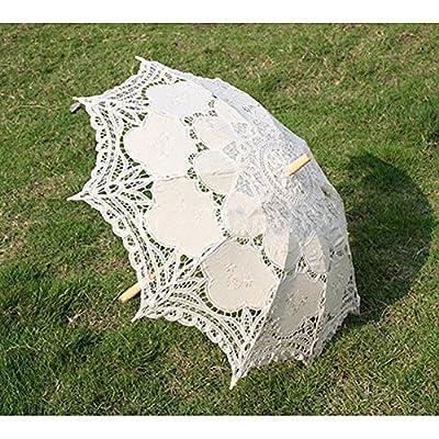 Vintage Cremig-weiß Beige Braut Lesbie Schirm Sonnenschirm für Hochzeit Garten Party von Generic - Gartenmöbel von Du und Dein Garten