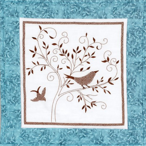 Brand New Bird Silhouette Quilt Blocks Stamped Cross Stitch-15