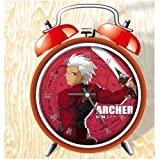 XINGQU Fate Anime Colorful Design Twin Bell Alarm Clock, Red