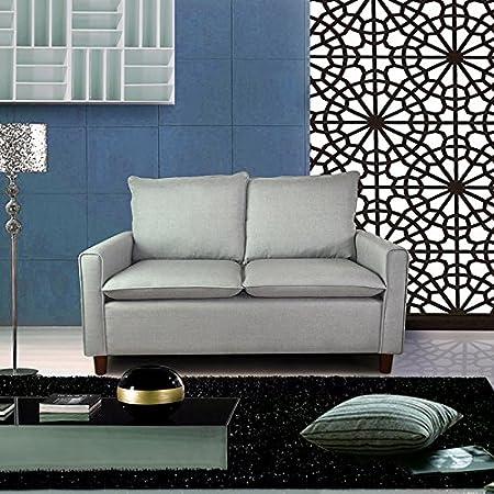 US Pride Furniture Blaire Fabric Modern Loveseat, Light Grey