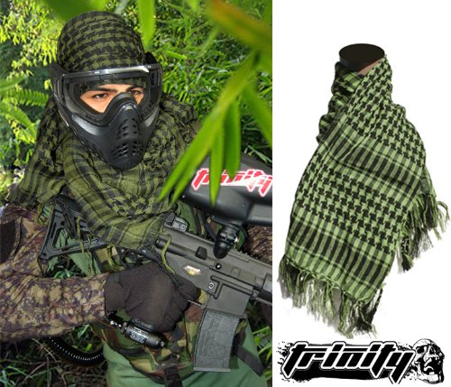 Special Forces Headwrap (Olive Checkered)paintball Tactical Headwrap,paintball Tactical Scarf,airsoft Scarf,airsoft Headwrap