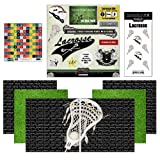 Scrapbook Customs Go Big Lacrosse Themed Paper and Stickers Scrapbook Kit