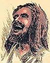 Original Laughing Jesus Print 5 x 7