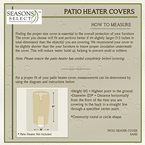 Seasons-Select-CVP01468-Patio-Heater-Cover-Almond