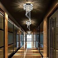 Modern LED Bulb Ceiling Light Pendant Fixture Lighting Crystal Chandelier by Jorunhe