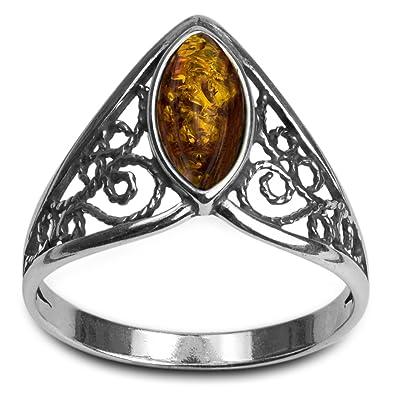 DTPsilver Collection Celtique Pendentif en Argent Fin 925 avec Peridot