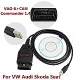GUBANG VAG-K+CAN Commander 1.4 OBD 2 Diagnostic Scanner Tool Cable VW Audi Skoda Seat