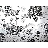 Black and White Flower Toile Contact Paper 4.5 ft by 18 in by Kittrich Corporation