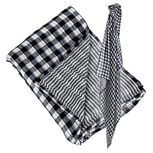 Lulujo Reversable Swaddling Blanket (Classic Navy)
