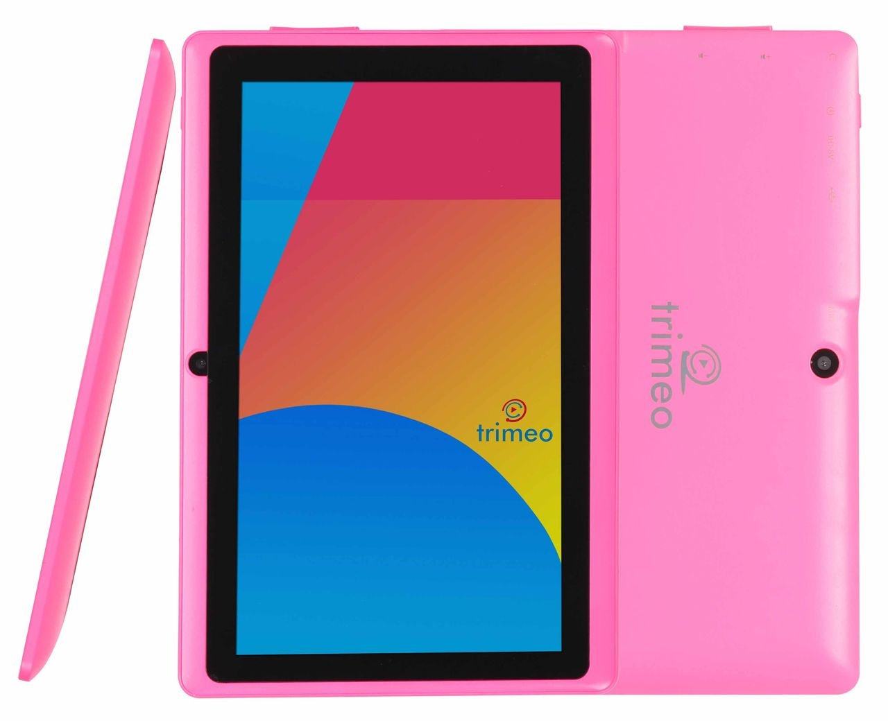 70% OFF   QUAD CORE   Trimeo 7  8GB HD 1024 X 600   2015 MODEL   Android 4.4.2 KITKAT (ANDROID 5.0 LOLLIPOP MANUAL UPDATE INCLUDED)   Tablet PC   Silicone Protection   Dual Camera   WiFi   Supports Google PLAYSTORE Youtube, Netflix, BBC iPlayer, Games (Pink)Customer reviews and more news