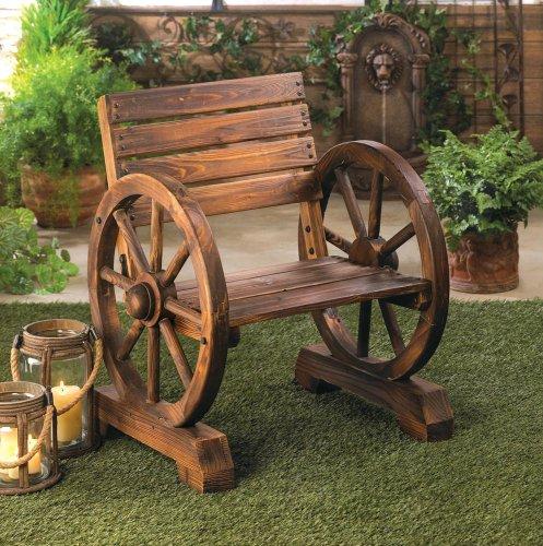 Wagon Wheel Benches