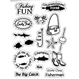 Joy! Crafts Craft Clear Stamps, Fishing Theme