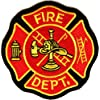 Fire Department Patch for Firemen, 3x3 inch, small embroidered iron on patch