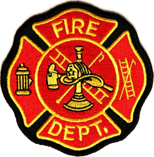 Fire Dept Patch - By Ivamis Trading - 3x3 inch