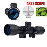 UUQ Tactical 4X32 Compact .223 .308 Scope Rangefinder Reticle /w Ring Mounts